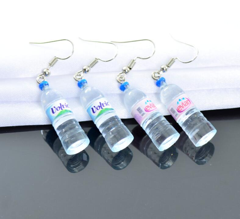 2019 New Style Creative Simulation Of Mineral Water Bottles Earrings Relieving Rheumatism