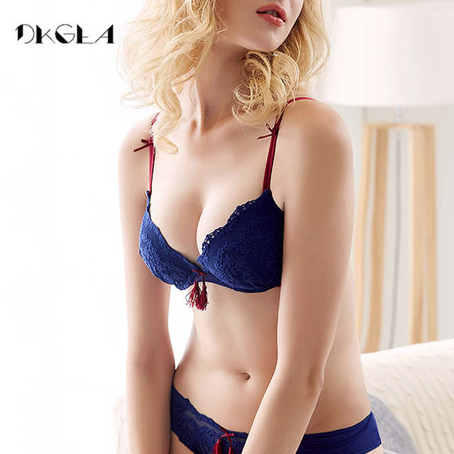 f1a9753f4 placeholder Vintage Fashion Thick Bra And Panties Set Lace Sexy Women  Underwear Cotton Bra Set Push-