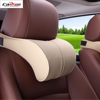 CARSUN Adjustable Car Headrest Neck Pillow Leahter Neck Protection Rest Pillows For Seat Waist Supports Cushion
