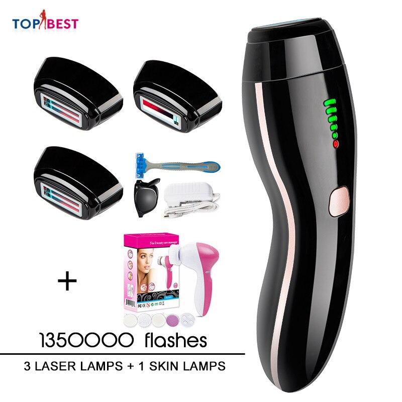 4in1 IPL Epilator Permanent Laser Hair Removal LED Display 1350000Pulses Depilador A Laser Bikini Trimmer Photoepilator Gift