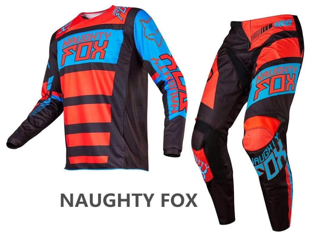 2017 NAUGHTY Fox 180 Race Falcon Nirv Jersey Pant Set Racing MX MTB Motocross ATV Dirt Bike Mens Gear брюки asics брюки jersey pant