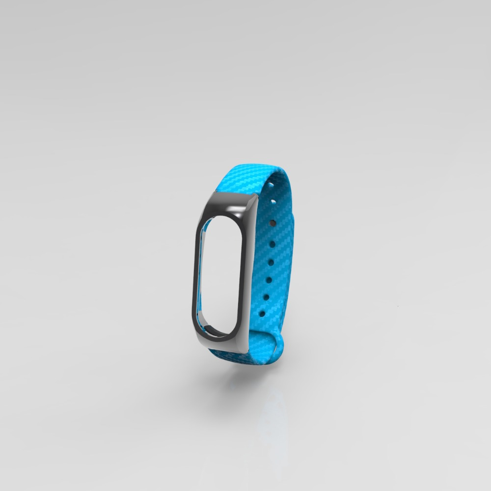 Buy Extended Version Strap For Xiaomi Mi Band 2 Carbon Fiber Silicone Metal Frame Replacement Bracelet Miband Smart Wristband From