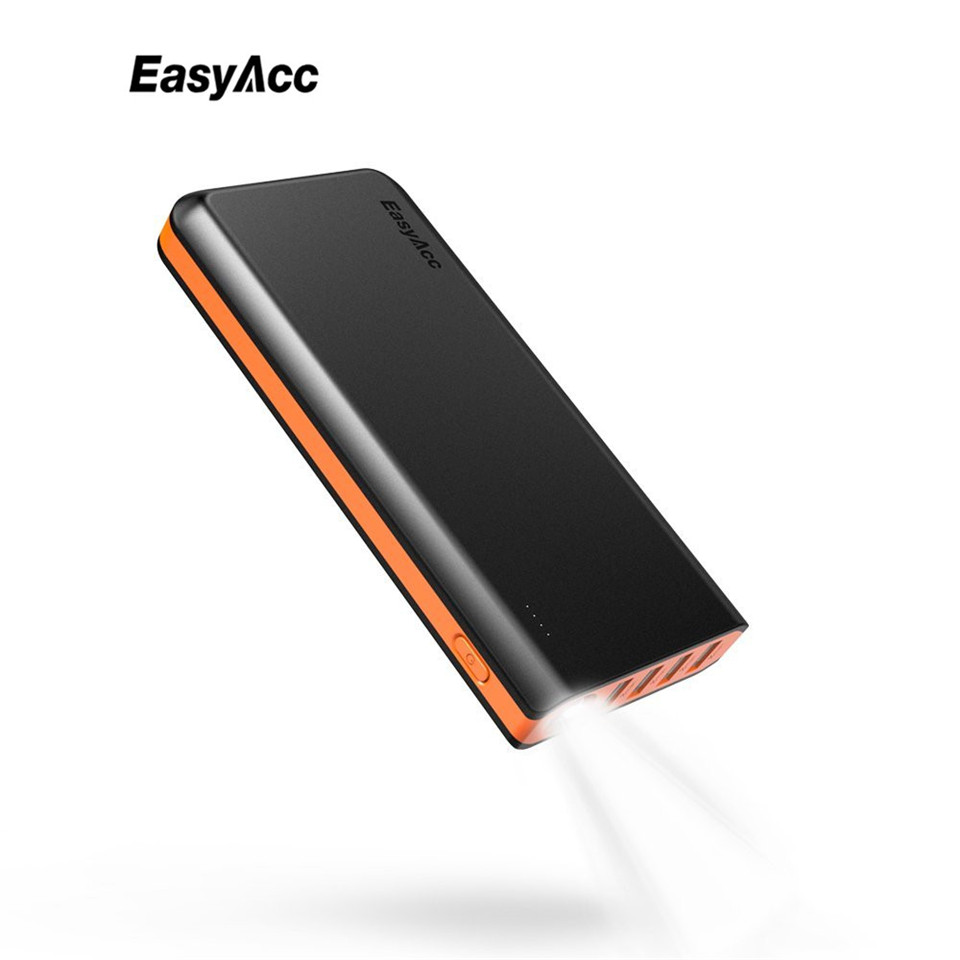 EasyAcc 26000mAh Power Bank 4 Ports External Battery Charger Portable Charger for Android Phone Samsung HTC Tablets