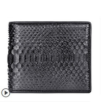 2018 ouluoer Python skin men women wallet luxury leather wallet short version Korean leather More screens