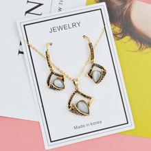 hot deal buy sep 2018 new arrival fashion jewelry sets women necklace and earring sets gold plated diamond rhinestone jewelry sets for women