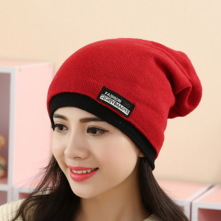 2017 Fashion New Winter Women Hats Girl Scarf hooded Knitting Hat Set Head Cap vogue Wool Ski Caps Earmuffs beanie Free shipping wuhaobo the new arrival of the cashmere knitting wool ladies hat winter warm fashion cap silver flower diamond women caps
