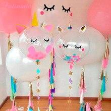 PATIMATE Unicorn Party Ballons Decoration Birthday Balloons Unicorn Globos Birthday Party Decorations Kids Unicornio Balony стоимость