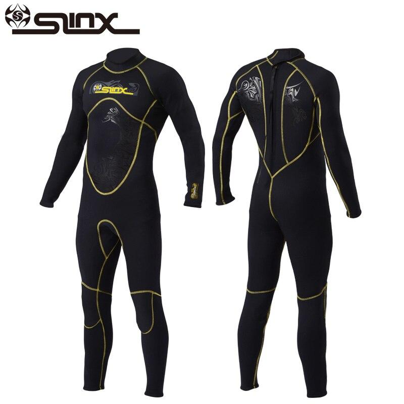Slinx 3mm néoprène combinaisons humides pour hommes chasse sous-marine plongée sous-marine corps complet manches longues natation surf plongée en apnée maillots de bain