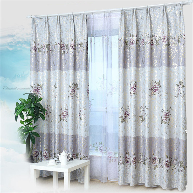 Continental Printed Window Curtains Finished Thicker Custom Living Room Bedroom Full Shade Blackout Curtain In From Home Garden On Aliexpress