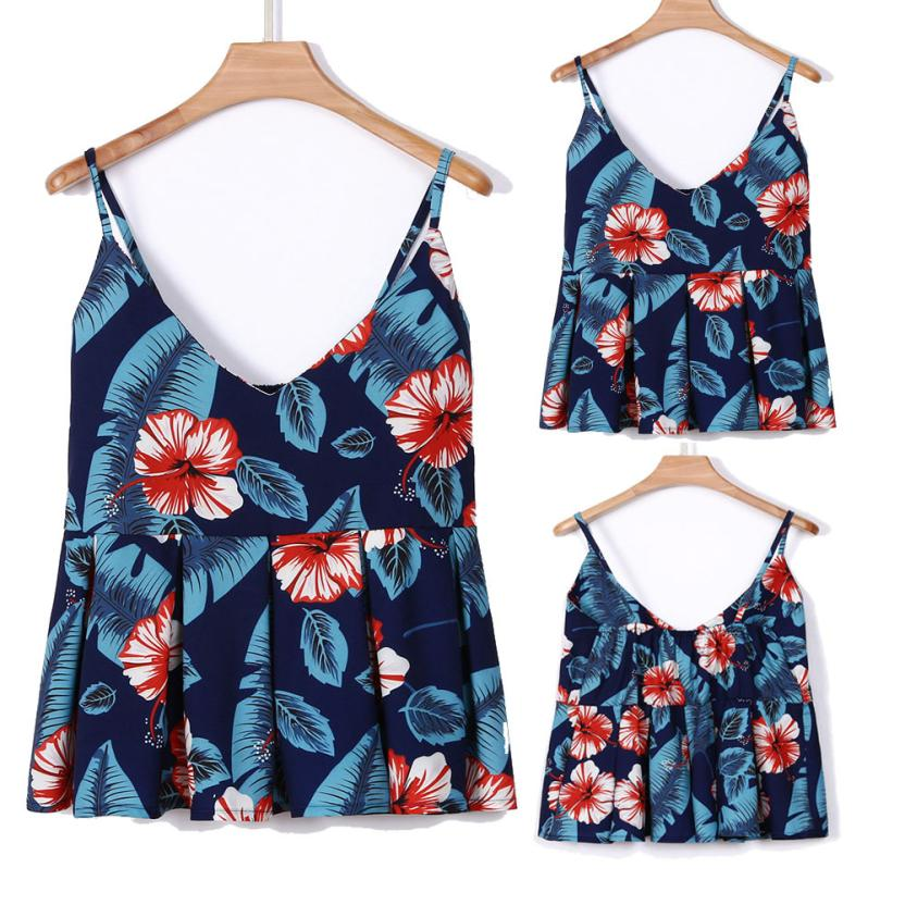 feitong Crop Top 2018 New Arrival Summer Women Shirt Fashion Sexy Printing V-Neck Sleeveless Camis Tank Tops Casual Blouse Vest