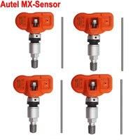 4pcs/lot Autel MX Sensor 433MHz Programmable Universal Tire Pressure Sensor Work With MaxiTPMS TS401 TS501 TS601