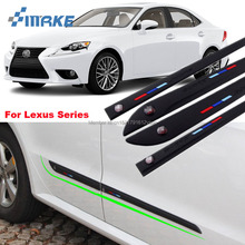 smRKE High-quality Rubber Car Body Anti Scratch Protector Bumper For Lexus CT ES GS GX IS LS LX NX RC RX Series Stickers On Cars все цены