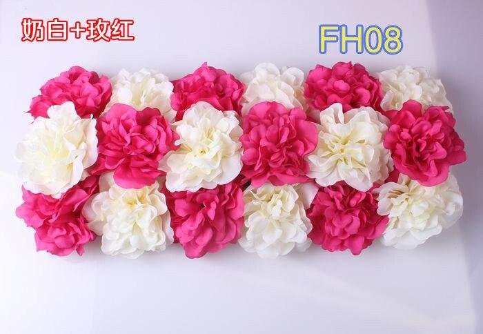 Свадебные композиция свадебные искусственные шелковые свадебные розы арки цветок Свадебные украшения цветок ряд цветок кадр 10 шт./лот - Цвет: FH08