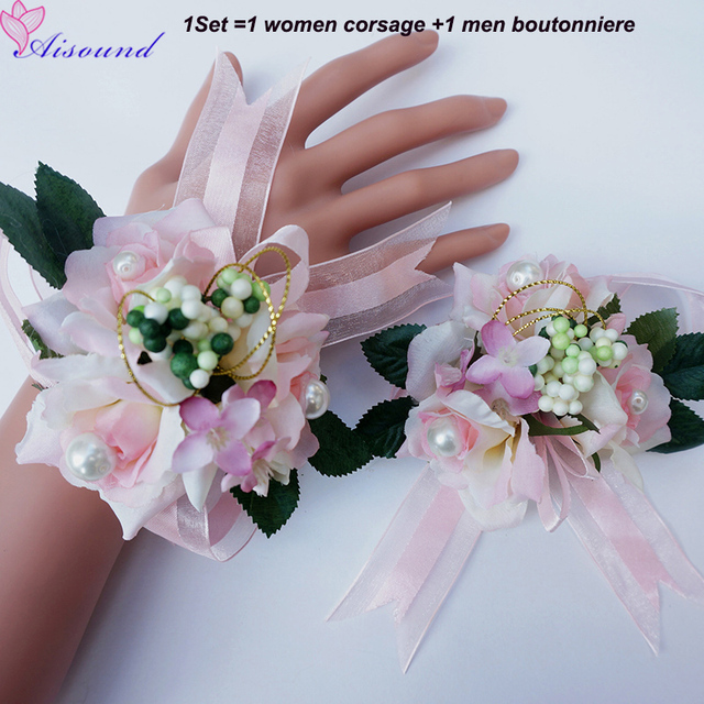 Aliexpress.com : Buy 2pcs/set Artificial Flowers for Wedding Small ...