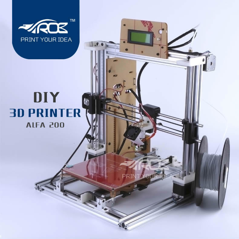 DIY impresora 3D prusa i3 tipo mejorado v ranura marco de aluminio 200*200 300*2
