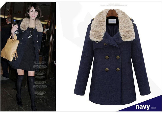 Womens Pea Coat With Fur Collar - All The Best Coat In 2017