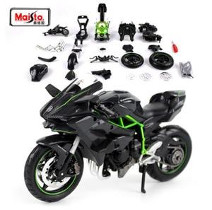 Image 1 - Maisto 1:12 カワサキニンジャ H2R H2 R 組み立てる DIY オートバイバイクモデル子供のおもちゃのギフト送料無料新ボックス