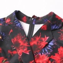 Summer Silk Print Office Dress for Women