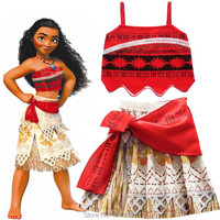 Moana Princess Cosplay Costume Kid Girls Lovely Cartoon 3D Party Fancy Dresses Newest Style Princess Girl