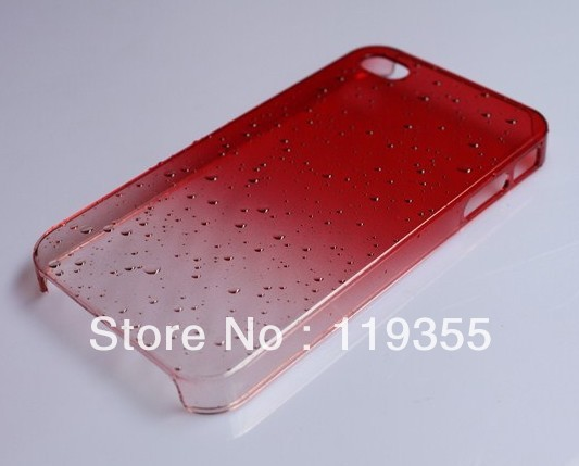 0.5mm Chrome Plastic 3D Water Drop Dripping Ultra Thin Slim Hard Case Cover For iPhone 5 5G Wholesale Free Shipping 50pcs/lot