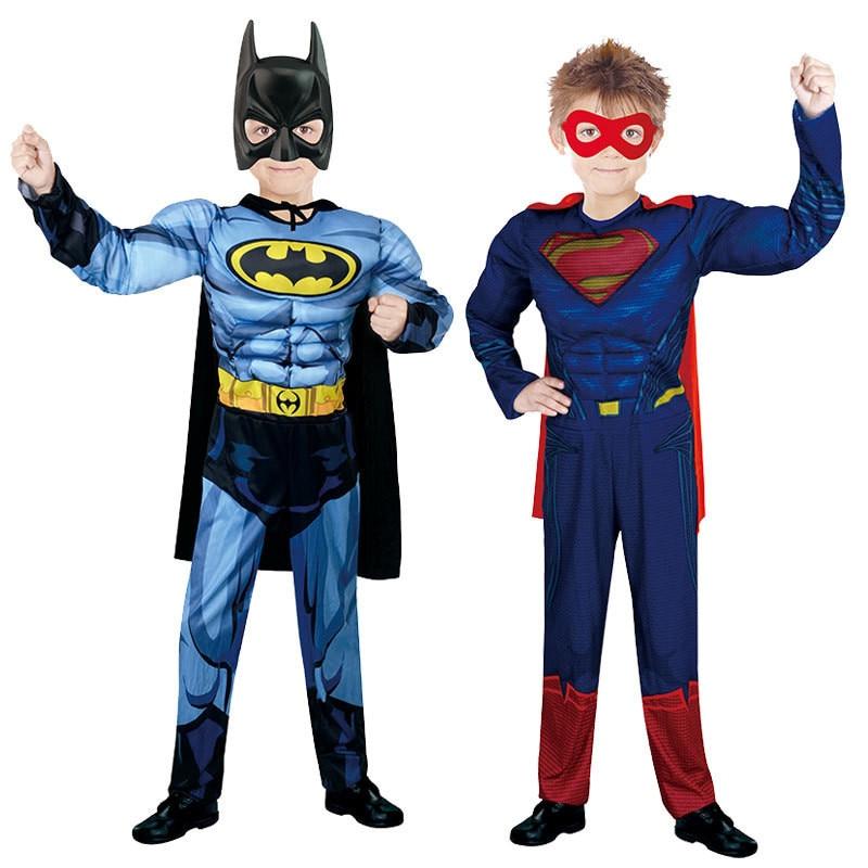 Christmas Cosplay Boys Muscle Super Hero Captain America Costume Spiderman Cosplay Bodysuit Suit Bodysuit Suit Child