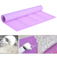 Silicone Sugar Lace Mat Cake Decorating Fondant Mold Kitchen Tool Baking Mould