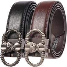 2019 Famous Business Cow Leather Belts Fashion Leopard Head Automatic Buckle Popular Men Belt Top Sale Designer Mens Belt hot sale business male black belts famous brand popular leather belt newest automatic buckle designer men black belt 2019