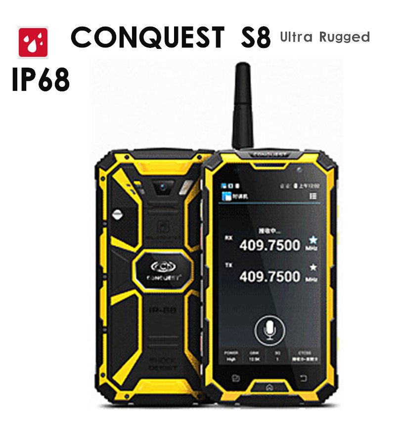 Original Conquest S8 6000mAH Battery Quad Core 5 HD Android 3GB RAM ip68 Rugged waterproof phone