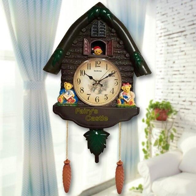 Wonderful Handwerk Kunst Haus Vogel Reporting Zeit Dekoration Europäischen Stil  Wohnzimmer Wanduhr Cuckoo Hochwertigen Kinderzimmer Dekoration