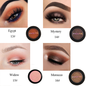 PHOERA 24 Clors 2018 Cosmetic Eye Shadow Palette Glitter Shimmer Powder Natural Pigment Eyes Makeup Cosmetic TSLM2