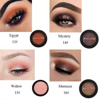 PHOERA 24 Clors 2018 paleta cosmética de sombra de ojos brillo polvo brillante pigmento Natural maquillaje de ojos TSLM2