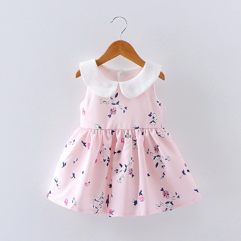 HTB1 D0bQVXXXXbaXXXXq6xXFXXXZ - LCJMMO 2017 Baby Girl Dress Summer Floral Princess Party Cute Cotton Baby Girls Clothing Kids Lolita bow-knot Dresses For 6-24M
