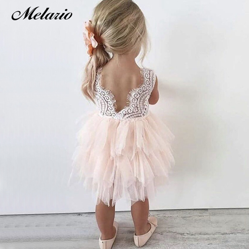 Melario Baby Girl Tutu Dress costume for Kids Sleeveless Christening tulle  Wedding party Princess Dresses Toddler Girls Clothes princess girl party dress children wedding birthday tutu dress infant lace corchet christening gown baby girls dresses clothes