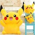 Envío Libre 23 cm Oferta Especial Pikachu Juguetes de Peluche Anime Toy Alta Calidad Muy Lindo Juguetes de Peluche Para niños regalo