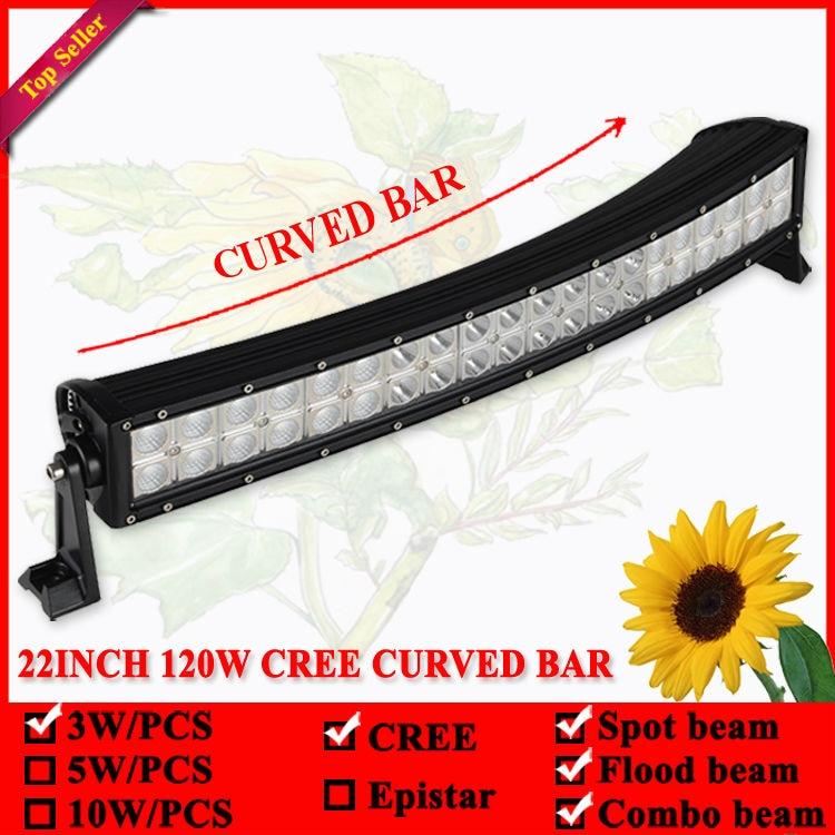 22 inç 120W shirit LED dritë e lakuar për Offroad 4X4 Led Lampë - Dritat e makinave - Foto 2