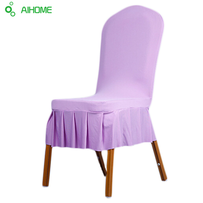 new spandex stretch dining chair cover machine washable restaurant for weddings banquet folding hotel decoration decor in chair cover from home garden on - Violet Hotel Decor