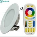 6W Milight Led Panel Dimmable Led Downlight AC85-265V RGB+CCT Indoor Room Kitchen Lighting +2.4G RF Wireless Remote Control