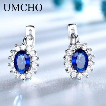 Blue Sapphire Silver Earring