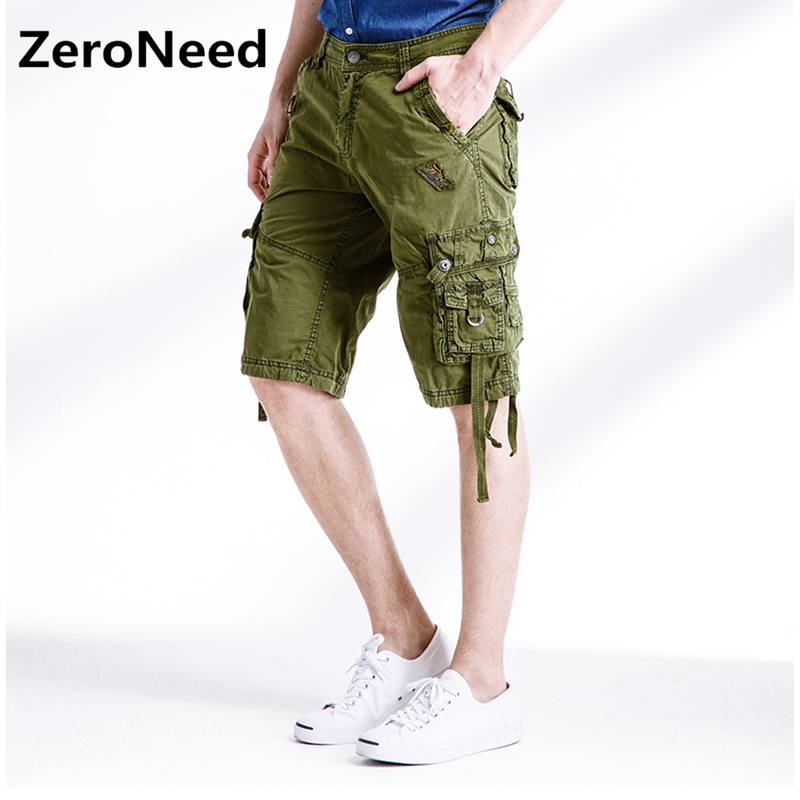 Army Camouflage Cargo Shorts Work Casual Bermuda Outdoors Brand Clothing Baggy Shorts Mens Comfortable Casual Cotton Short 255