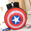 Mochila Moda Capitán América Duro Protector De Plástico Mochila Bolsa Pequeña Escuela Mochila Mochila de Viaje Mochila Femininas
