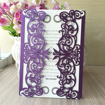 35pcs New Arrived Pearl paper Wedding Party Invitation Card Romantic Delicate Carved Birthday Wedding Invitations Party Supply