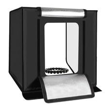 PULUZ 60x60x60cm Portable Mini Photo Studio Box Photography Backdrop built-in Light Accessories US Plug