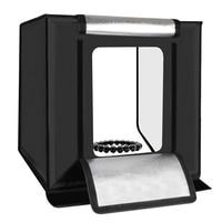 PULUZ 60x60x60cm Portable Mini Photo Studio Box Photography Backdrop built in Light Photo Box Photo Studio Accessories US Plug