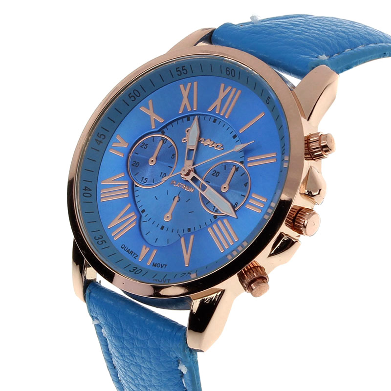 drop ship design New Luxury Fashion Faux Leather Men Blue Ray Glass Quartz Analog Watches Casual Cool Watch Brand Men Watches durable watch men luxury brand relogio masculino men watch faux leather men blue ray glass quartz watch