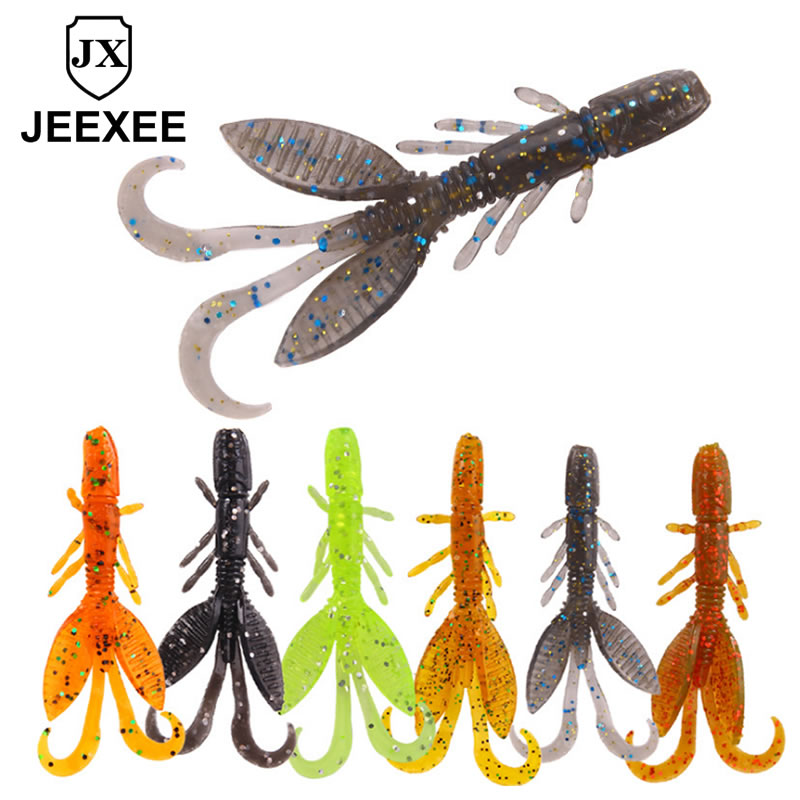 1pcs 55mm 1.4g Soft Silicone Shrimp Fishing Lure Isca Garnelen Minnow Worms Wobblers Silicone Artificial Bait Bass Tackle Jigs 1pcs 8cm 5g luminous simulation prawn soft shrimp floating shaped worn fake lure hook isca fishing lure artificial bait