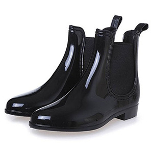 Image 2 - Rubber Boots for Women PVC Ankle Rain Boots Waterproof Trendy Jelly Women Boot Elastic Band Rainy Shoes Woman botas mujer