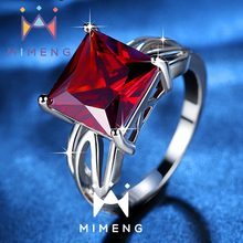 2016 new fashionable and popular Ruby Ring Crystal zircon ring fashion jewelry