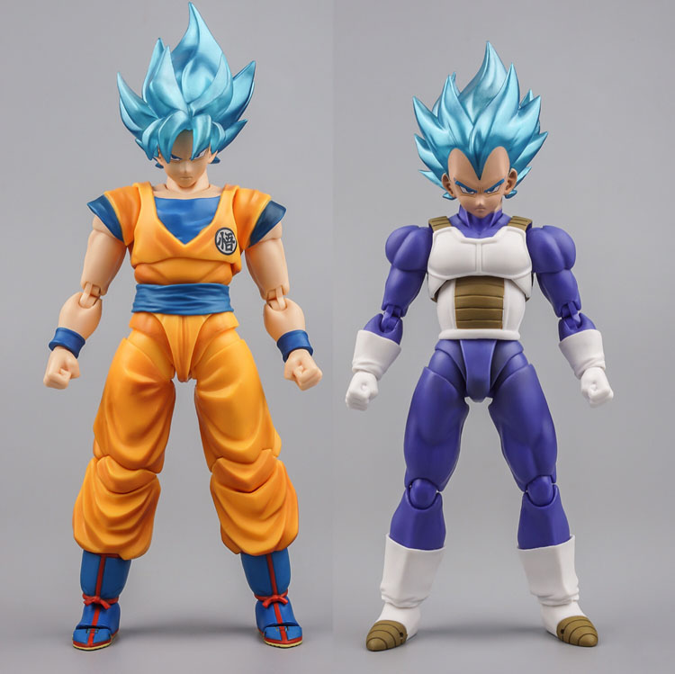 Us 38 99 Shf Goku Vegeta With Demoniacal Fit Ssj Blue Custom Headsculpt Head And Hair Set Accessories In Action Toy Figures From Toys Hobbies