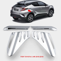 BBQ FUKA ABS Chrome Car Rear Back Lamp Tail Light Cover Trim Auto Exterior Accessories Fit