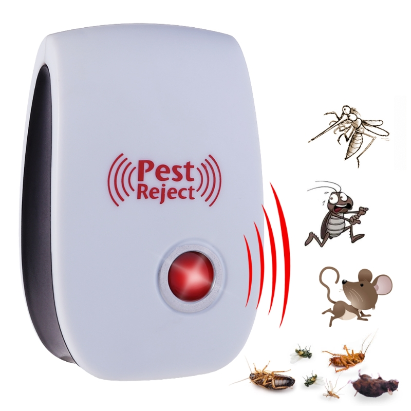 EU Plug Electronic Ultrasonic Anti Mosquito Insect Pest Mouse Repellent Repeller